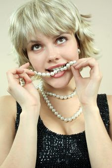 Free Girl With Pearls Stock Photo - 1972210