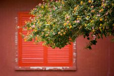 Free Window And Red Shutter Royalty Free Stock Photography - 1972467