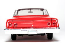 1962 Chevrolet Belair Metal Scale Toy Car Backview Royalty Free Stock Image