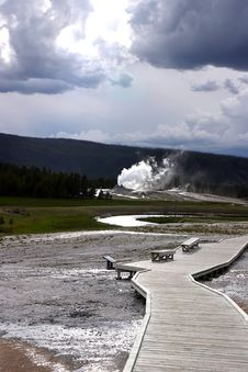 Free Geyser In Distance Royalty Free Stock Photo - 1973695