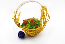 Free Basket With Ornaments Royalty Free Stock Images - 1973829