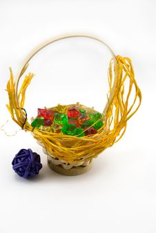 Free Basket With Ornaments Royalty Free Stock Images - 1973869
