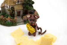 Free The Plasticine Mouse With Cheese Stock Photos - 1973923