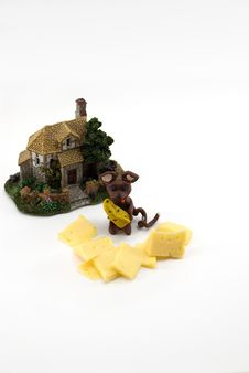 Free The Plasticine Mouse With Cheese Stock Photos - 1973933