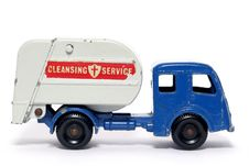 Old Toy Car Tippax Refuse Collector 3 Royalty Free Stock Photography