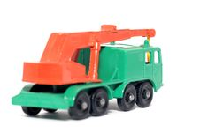 Free Old Toy Car 8 Wheel Crane Royalty Free Stock Photos - 1974078