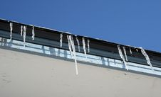 Free Bright Winter Day, Icicles On The Roof Royalty Free Stock Images - 1976479
