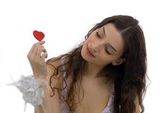 Free Beautiful Woman And Heart Stock Images - 1979434