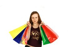 Free Girl With Purchases Stock Photo - 1979490