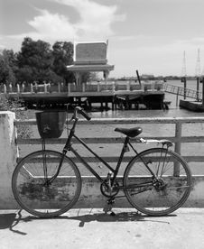 Free Bicycle By The Water Royalty Free Stock Photography - 1979597