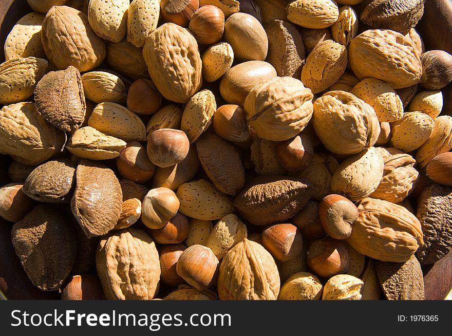 Assorted, whole mixed nuts