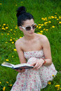 Free Young Woman Reading A Book Stock Images - 19704714