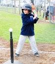 Free T-Ball Player At Bat. Royalty Free Stock Photo - 19705525