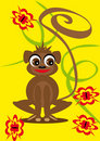 Free Small Animation Monkey On The Isolated Background Stock Photography - 19707682