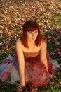 Free Brunette Girl Enjoying A Autumn Day Stock Image - 19708921