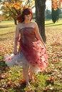 Free Girl Enjoying A Sunny Autumn Day Royalty Free Stock Photo - 19708985