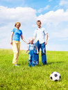 Free Family Playing Football Stock Photography - 19709652
