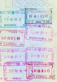 Free Passport Page Royalty Free Stock Image - 19700416