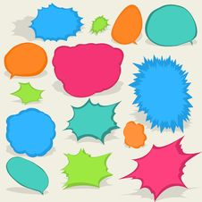 Colorful Different Speech Bubbles. EPS8 Stock Photography