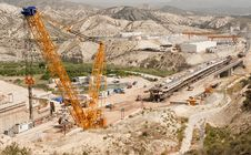 High Speed Railway Line Construction Site Royalty Free Stock Image