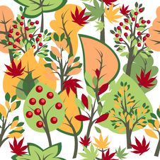 Free Seamless Pattern With Trees Stock Photo - 19701640