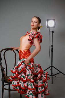 Free Young Woman Dancing Flamenco Stock Photography - 19701642