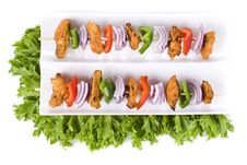 Chicken Skewers Stock Photos