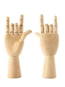 Wooden Love Hand Stock Images