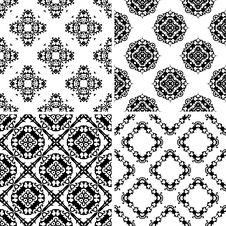 Free Set Seamless Damask Pattern Royalty Free Stock Photography - 19702307