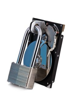 Free HDD Locked By Steel Lock Stock Photo - 19702440