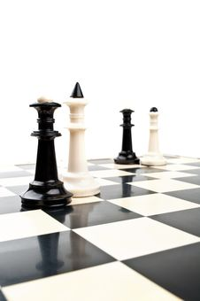 Free King And Queen In Chess Royalty Free Stock Photo - 19702455