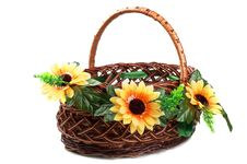 Free Wicker Basket Royalty Free Stock Image - 19702496