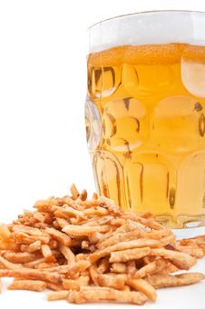 Free Beer And Crackers Royalty Free Stock Photos - 19702508
