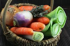 Free Vegetables For The Preparation Of A French Meal Stock Images - 19703084