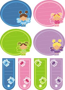 Free Tag With The Fairies And Butterflies Stock Photos - 19703113