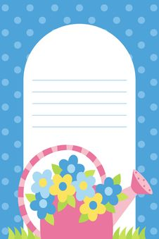Free Watering Can With Flowers Stock Photography - 19703142