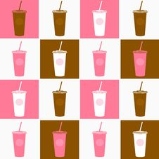 Free Coffee Cup Background Texture Pink, Brown Stock Images - 19703144
