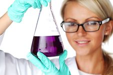 Chemical Experiment Royalty Free Stock Image