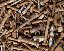 Free Old Rustic Screws Royalty Free Stock Photos - 19703588