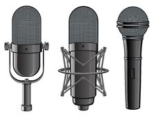 Free Isolated Image Of Microphones Royalty Free Stock Photography - 19703767
