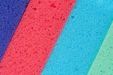 Cleaning Sponge Surface Stock Images