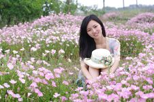 Free Girl In Flowers Royalty Free Stock Photo - 19704495