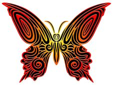 Free Butterfy Tattoo Royalty Free Stock Image - 19704776