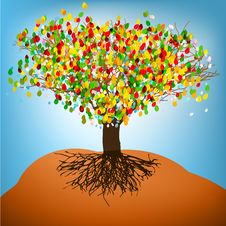 Free Abstract Colorful Tree. EPS8 Stock Images - 19704784