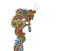 Chinese Dragon Pillars Royalty Free Stock Photos