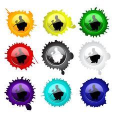 Free Paintball Glass Buttons For Your Design Royalty Free Stock Photos - 19705848