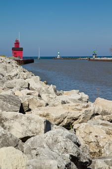 Free Lake Michigan Light House Stock Image - 19706021