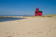 Free Lake Michigan Light House Royalty Free Stock Images - 19706059