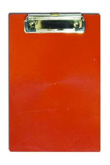 Red Clipboard For Text And Background Stock Photography