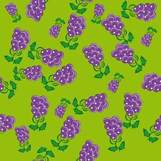 Abstract Pattern With Grapes Royalty Free Stock Image